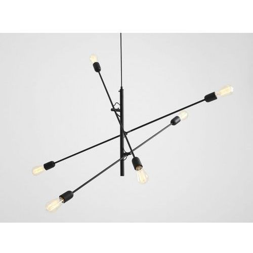 Lampa sufitowa industrialna Customform TWIGO 6 - kolor czarny (5904798641559)
