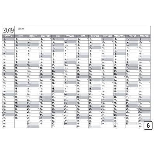 Kalendarz 2019 suchościeralny 271 marki Wally - piękno dekoracji