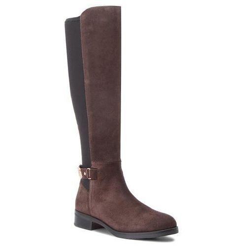 Oficerki - th buckle high boot fw0fw03065 ebony 025, Tommy hilfiger, 36-40