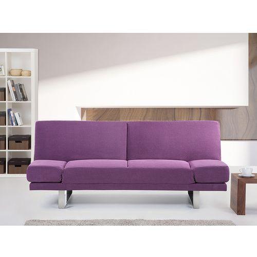 Sofa z funkcją spania fuksja - kanapa rozkładana - wersalka - YORK (7081454707991)