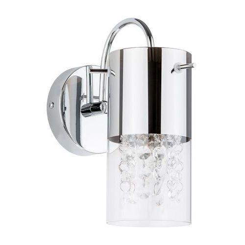Kinkiet lampa ścienna marqu mbm1636/1a kryształowa oprawa tuba crystal chrom przezroczysta marki Italux