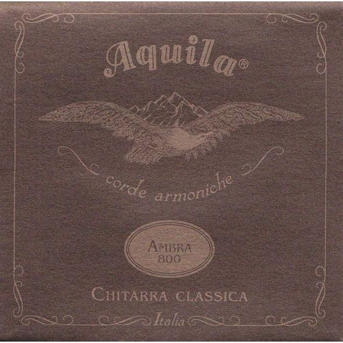 ambra 800 - nylgut & silver plated copper / classical guitar struny do gitary klasycznej marki Aquila