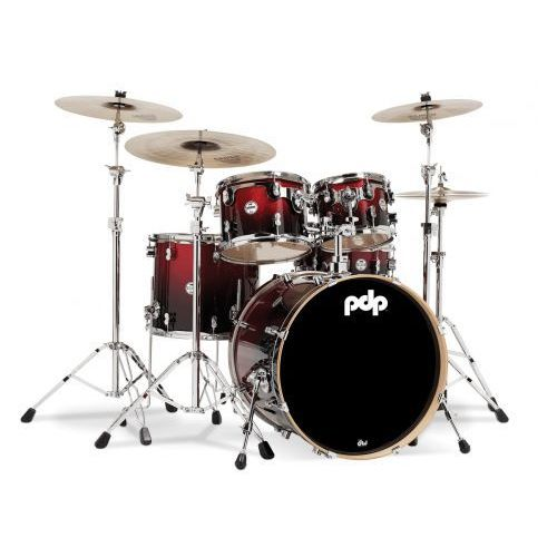 Pdp by dw shell set concept maple, red to black fade
