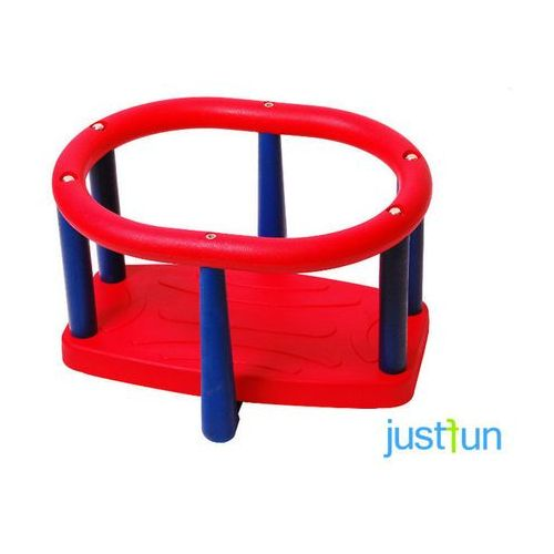 Huśtawka kubełkowa LUX - czerwono-niebieski (huśtawka ogrodowa)
