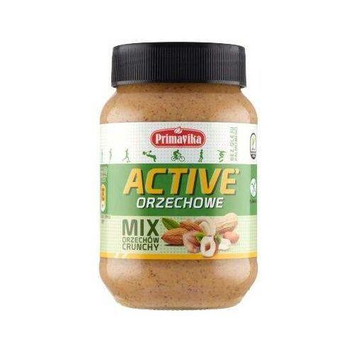 - mix orzechów crunchy active masło orzechowe 470g marki Primavika