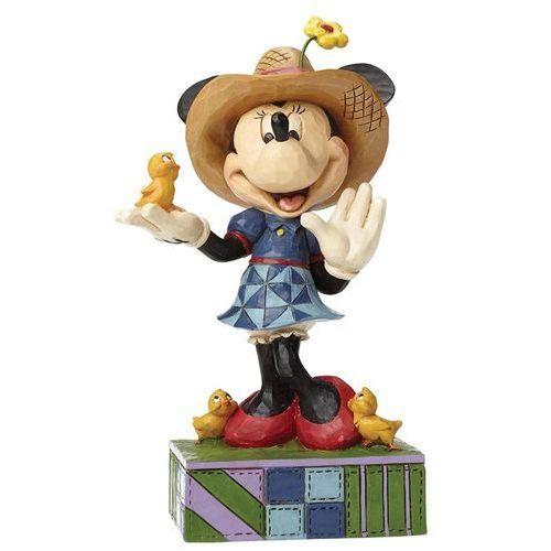 Jim shore Myszka minnie mouse wiosenna z kurczakami country life (farmer minnie) 4049636 figurka dekoracja pokój dziecięcy