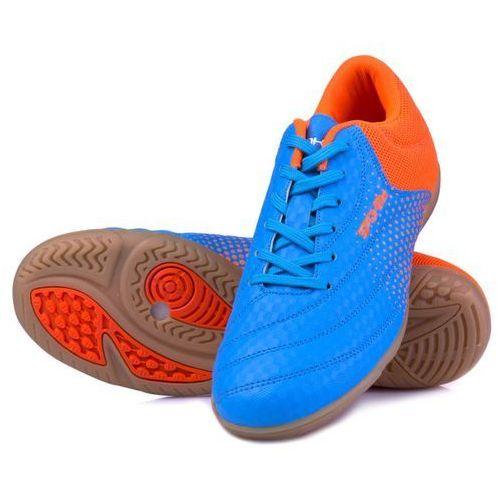 040ef0a8dce20 Buty SPOKEY Hall Jr 3 (rozmiar 29) Niebiesko-pomarańczowy 75,99 zł Buty do  gry w hali. Zaprojektowane dla juniorów zaczynających przygodę z piłką  nożną.