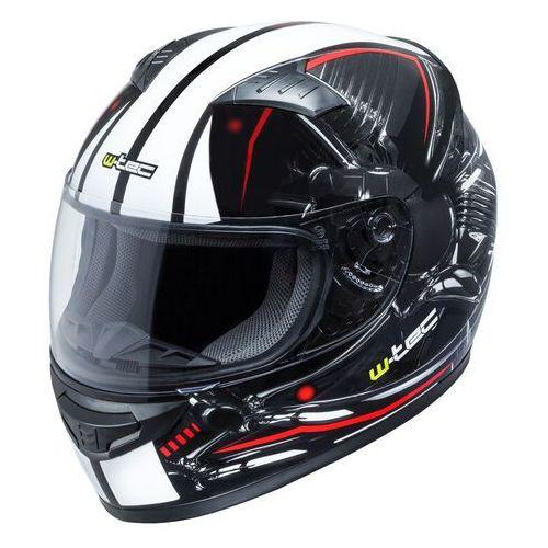 W-tec Kask motocyklowy integralny zamknięty fs-805, czarno-czerwony, l (59-60) (8596084052889)