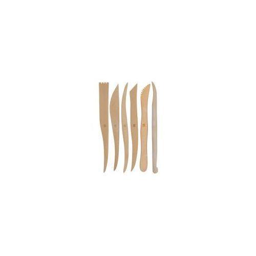 Kryolan Zestaw drewnianych szpatułek do modelowania, 6 szt.