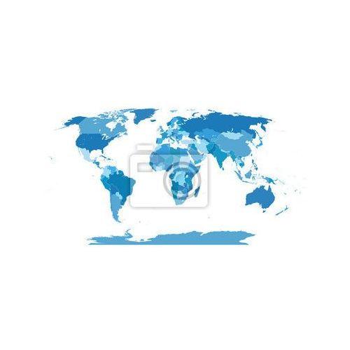 Fototapeta High Detail Świat map.Layers używane., myloview z MyLoview