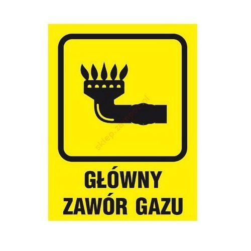Znak Główny zawór gazu