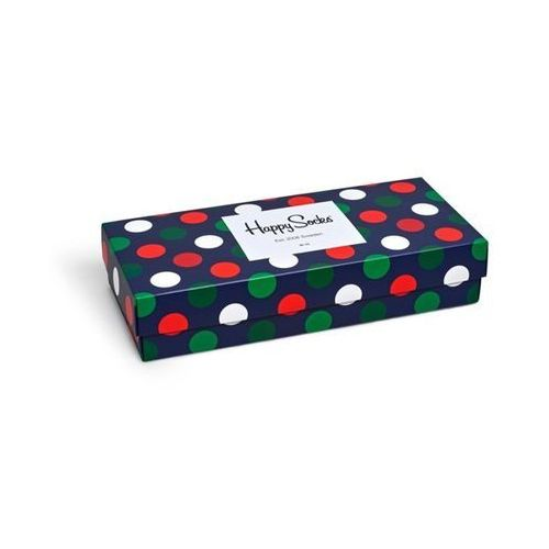 Happy Socks Giftbox (4-pary) XBDO09-4000 - Zestaw Kolorowych Skarpetek - biały ||zielony ||czerwony
