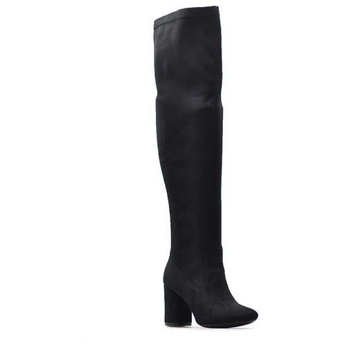 Kozaki Venezia G70391704 Czarne zamsz, kolor czarny