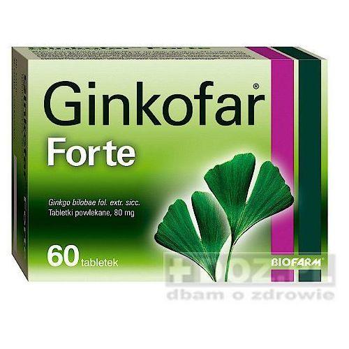 Ginkofar forte, tabletki powlekane, 80 mg, 60 szt - produkt z kategorii- Pozostałe zdrowie