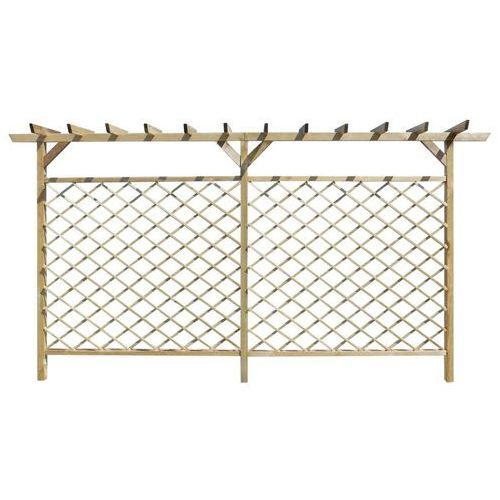 Vidaxl  ogrodzenie ogrodowe kratka z pergolą