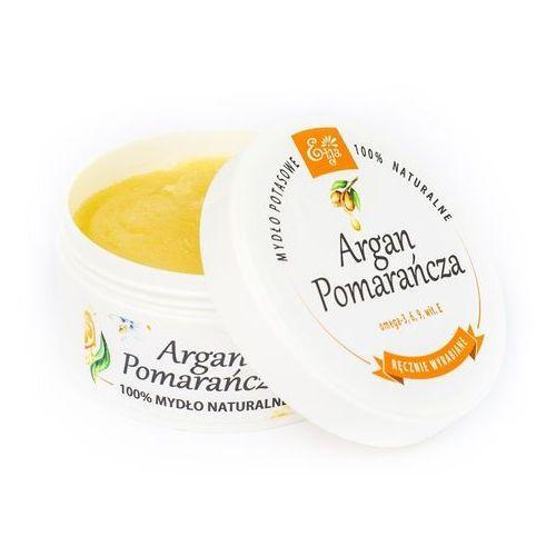 Mydło naturalne potasowe Argan Pomarańcza 80g