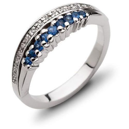 Pierścionek z szafirami i brylantami z kategorii pierścionki
