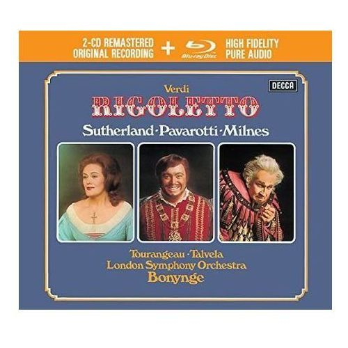 Universal music Verdi rigoletto (2cd + 1 blu-ray audio) - luciano pavarotti (płyta cd)