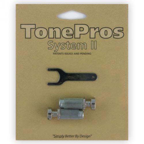 vns1-n - g-style locking studs, części mostka do gitary, niklowane marki Tonepros