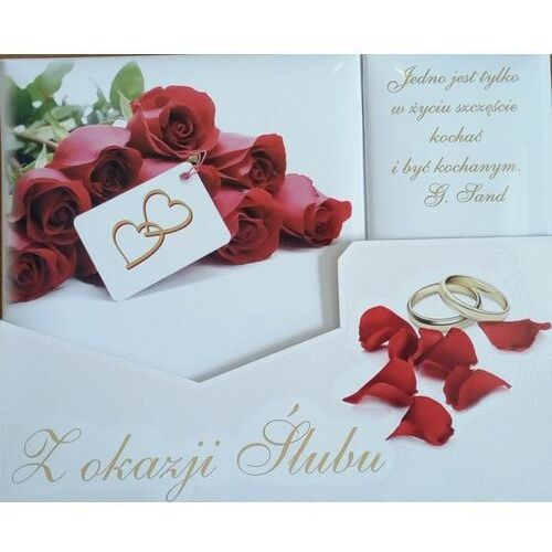 """""""z okazji ślubu"""" - pamiątka na ślub (róże) marki Praca zbiorowa"""
