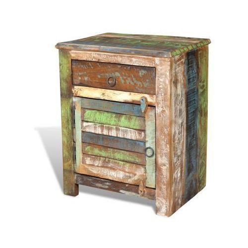 Szfka stolik nocny 1 szuflada 1 drzwi - produkt dostępny w VidaXL