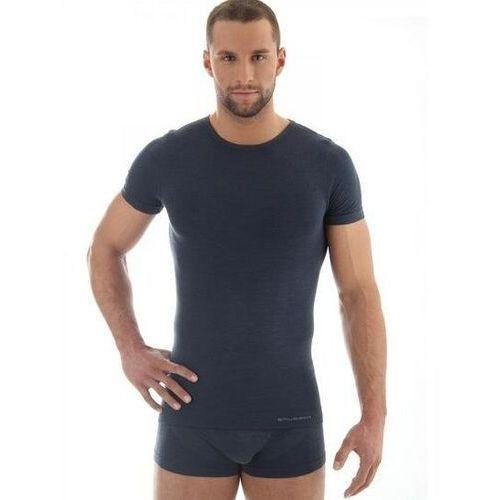 ss11030 koszulka męska z krótkim rękawem comfort wool ciemny jeans marki Brubeck