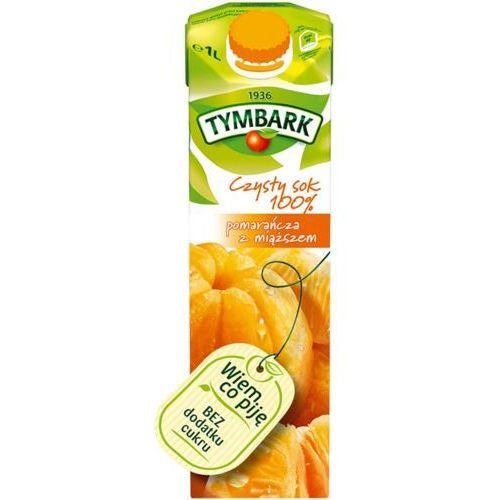 Sok 1l. - pomarańczowy z miąższem marki Tymbark