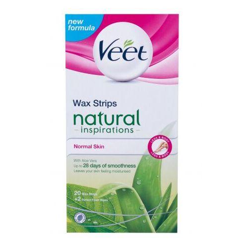 Veet natural inspirations wax strips normal skin akcesoria do depilacji 20 szt dla kobiet (9300631528791)