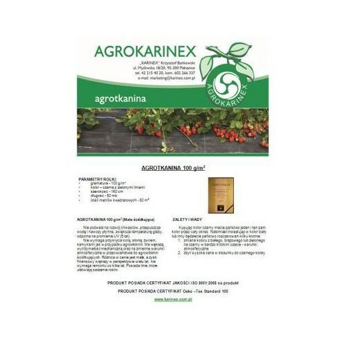 Agrotkanina 100 g/m2, 1,6 x 50 mb. Rolka - produkt z kategorii- folie i agrowłókniny