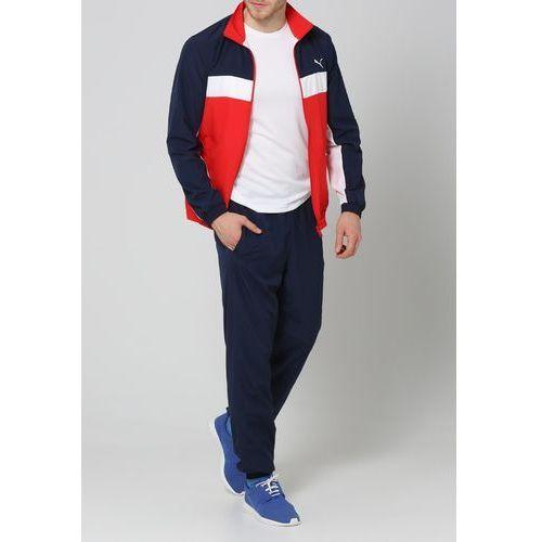 Puma ESSENTIALS Dres puma red/puma redwhite - produkt z kategorii- dresy męskie komplety