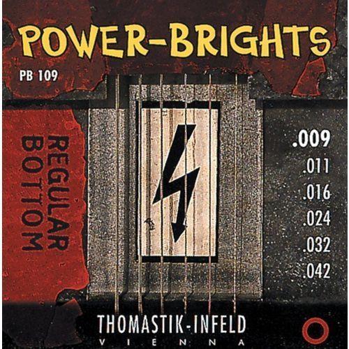 Thomastik pb111 (677037) struny do gitary elektrycznej power brights series komplet
