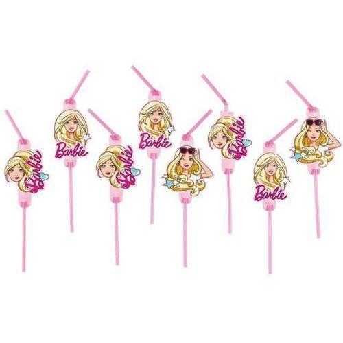 """Słomki """"barbie popstar"""", , 24 cm, 8 szt marki Amscan"""