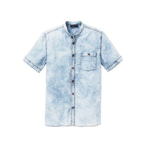 """Koszula dżinsowa z krótkim rękawem Slim Fit bonprix niebieski """"moon"""", bawełna"""