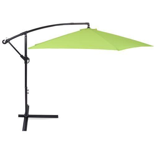 Parasol ogrodowy HOME&GARDEN 589241 Malabo 300 cm z podstawą Czarno-zielony + DARMOWY TRANSPORT!