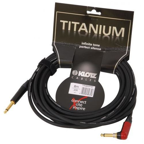 Klotz TIR 0600 PSP Titanium kabel gitarowy 6m, silent jack kątowy