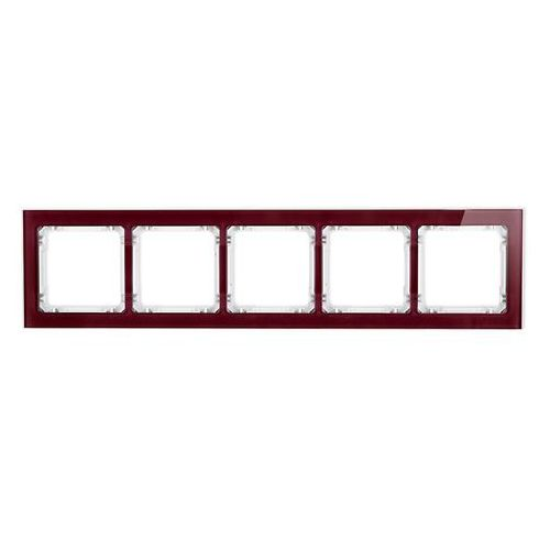 Ramka pięciokrotna Karlik Deco 14-0-DRS-5 efekt szkła ramka bordowa spód biały (5901832002710)