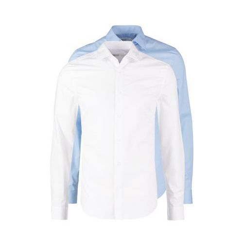 Pier One 2 PACK Koszula biznesowa white/light blue, biały w 5 rozmiarach