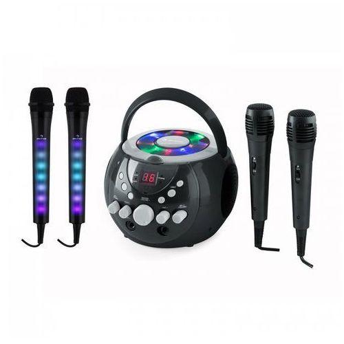 Auna SingSing zestaw do karaoke czarny Kara Dazzl zestaw mikrofonów LED (4060656077937)