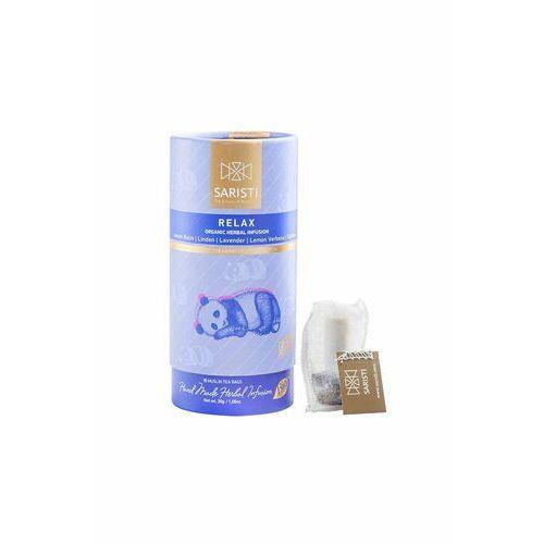 Herbata ziołowa Saristi RELAX 15 muślinowych saszetek