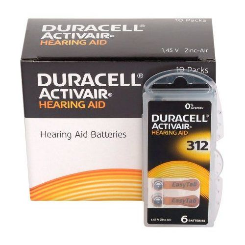 120 x baterie do aparatów słuchowych activair 312 mf marki Duracell