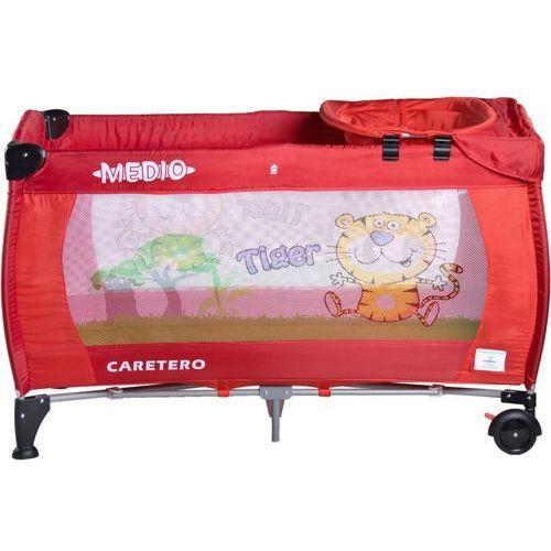 Łóżeczko turystyczne CARETERO Safari Tiger czerwony + DARMOWA DOSTAWA! - produkt z kategorii- łóżeczka turystyczne