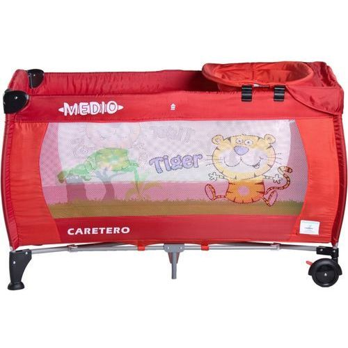 Łóżeczko turystyczne CARETERO Safari Tiger czerwony + DARMOWY TRANSPORT! - produkt z kategorii- łóżeczka turystyczne