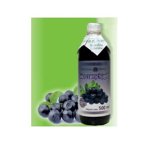 Sok z czarnych jagód 100% naturalny - 500 ml