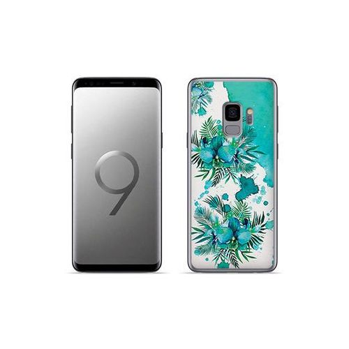 etuo Fantastic Case - Samsung Galaxy S9 Plus - etui na telefon Fantastic Case - turkusowa orchidea, kolor niebieski