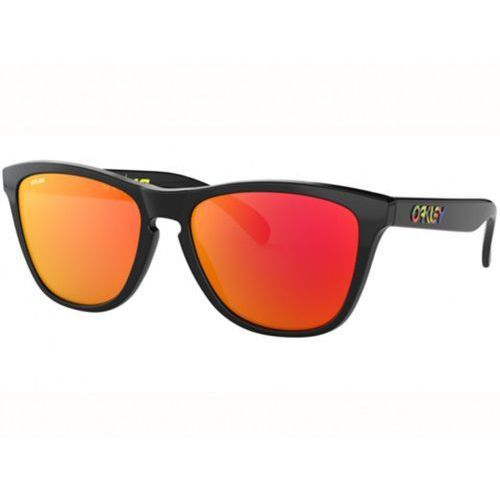 Okulary Oakley Frogskins Valentino Rossi Polished Black Prizm Ruby OO9013-E655, kolor czarny