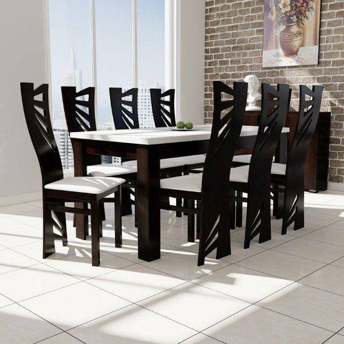 Stół s-44 80/160 do 200 + 8 krzeseł mewa marki Sandow