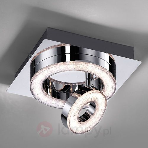 Leuchten Direkt TIM Lampa Sufitowa LED Chrom, 2-punktowe - Nowoczesny/Design - Obszar wewnętrzny - TIM - Czas dostawy: od 2-4 dni roboczych (4043689928667)