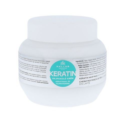 kjmn maseczka z keratyną (keratin hair mask with keratin and milk protein) 275 ml marki Kallos
