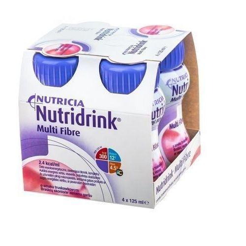 Nutridrink multi fibre o smaku truskawkowym 4 x 125ml marki Nutricia polska