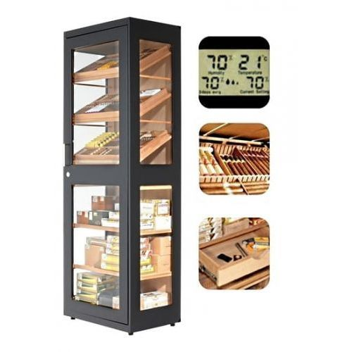 humidor cabinet capri black na 6000 cygar marki Adorini